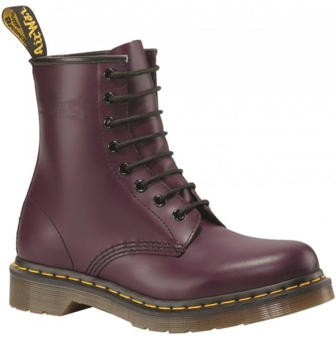 Dr Martens Womens 1460 W Purple Smooth Lace Up Boots 11821500
