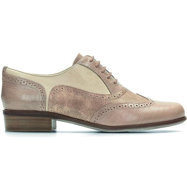 Clarks Womens Hamble Oak Nude Combi Leather Casual Shoes