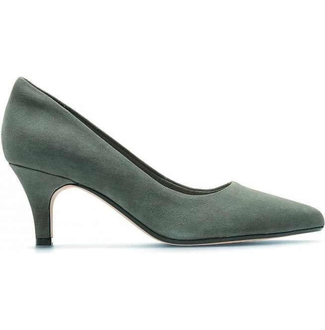 Clarks Womens Isidora Faye Dark Grey Suede Court Shoes