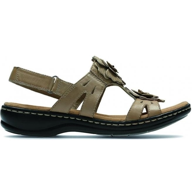 Clarks Womens Leisa Claytin Sand Leather T-Bar Sandals
