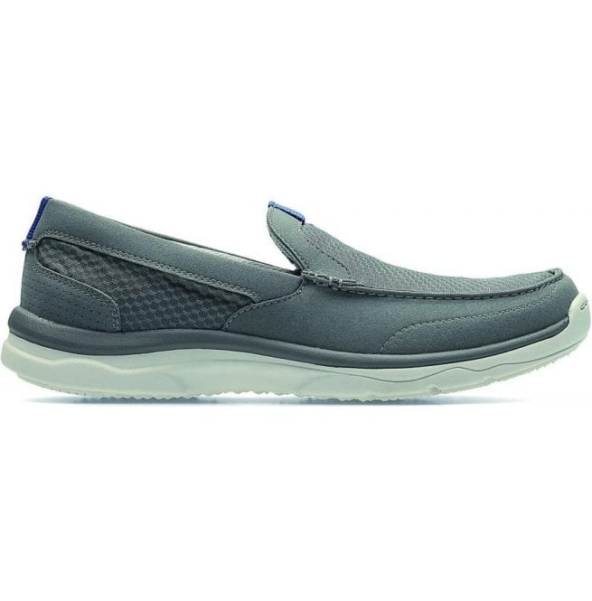 Clarks Mens Marus Step Grey Casual Slip On Driving Shoes