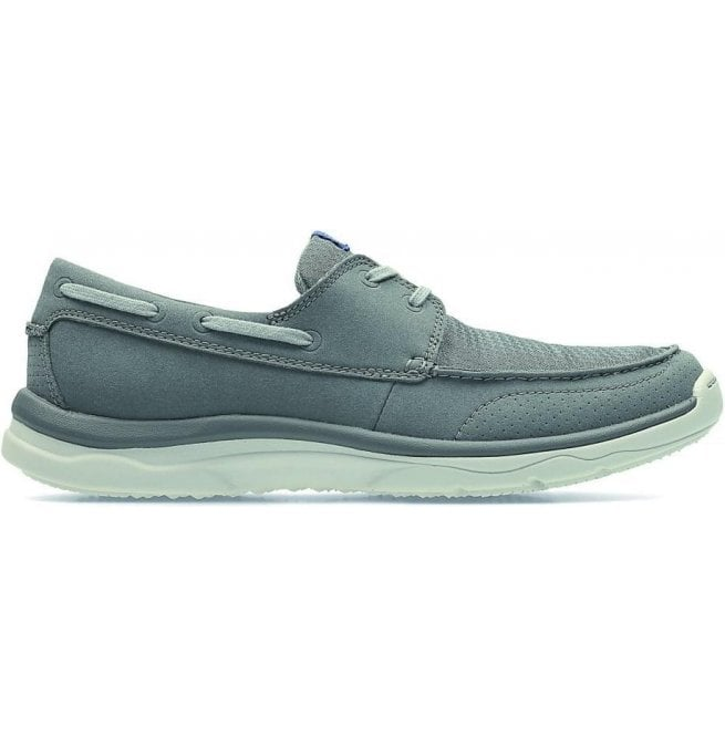 Clarks Mens Marus Edge Grey Casual Boat Shoes