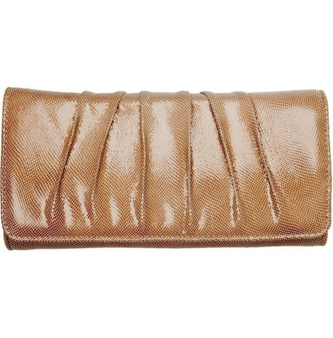Van Dal Womens Aloe Powder Lizard Patent Clutch Bag 2091890