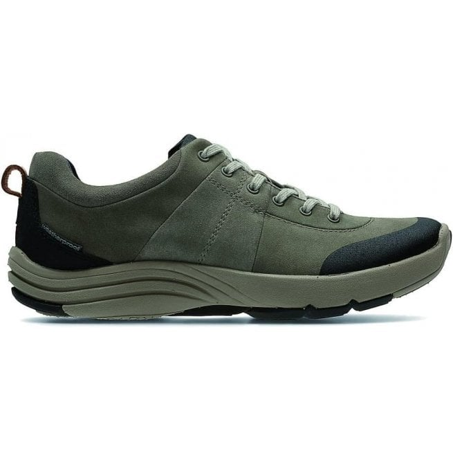 Clarks Womens Wave Andes Sage Nubuck Trainers