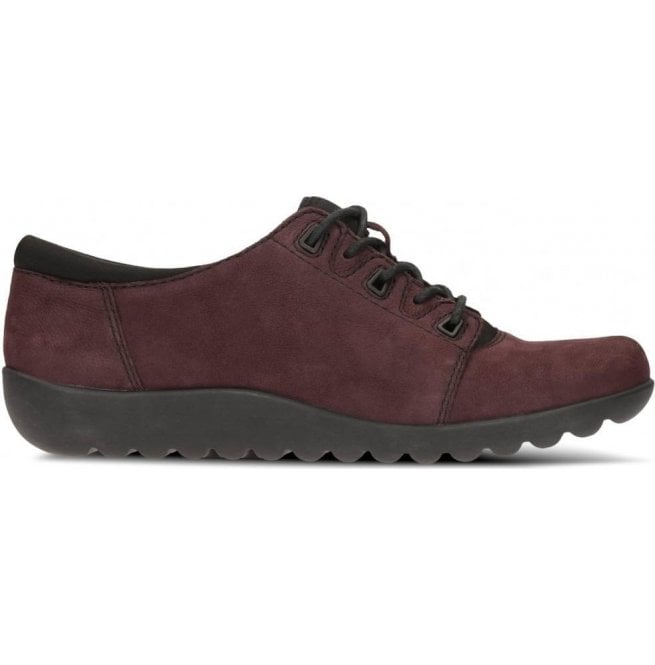 Clarks Womens Medora Bella Aubergine Nubuck Casual Shoes
