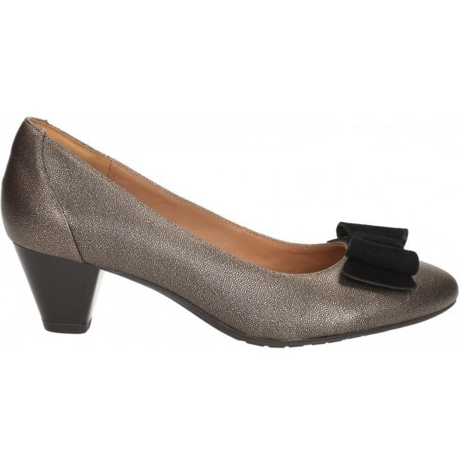 Clarks Womens Denny Raffle Metallic Leather Smart Shoes