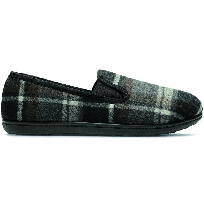 Clarks Mens King Twin Grey Fabric Slippers