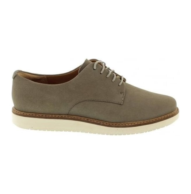 Clarks Womens Glick Darby Sage Nubuck Casual Shoes