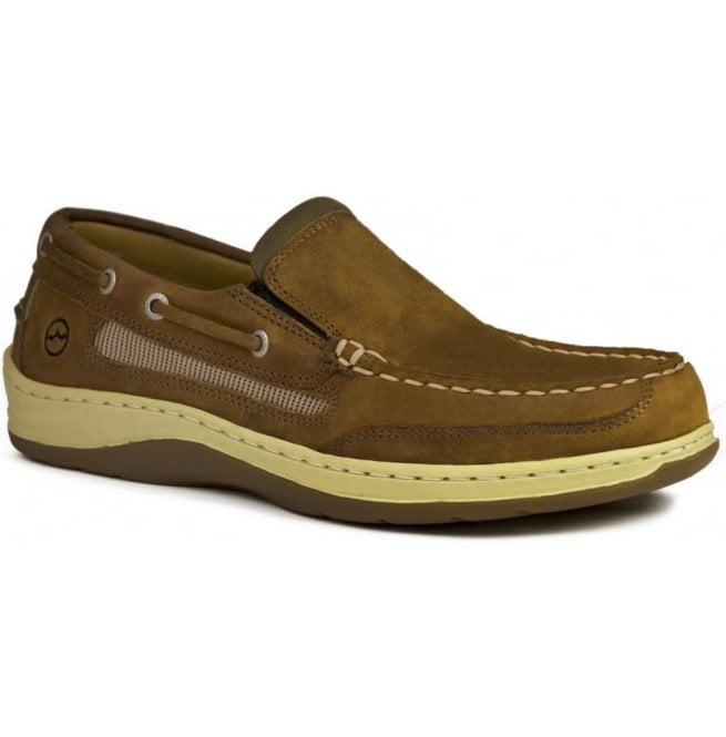 Orca Bay Mens Largs Sand Suede Leather Slip-On Sports Deck Shoes