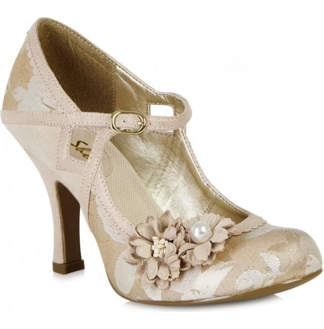 Ruby Shoo Womens Yasmin Rose Gold Mary Jane Court Shoes 09088