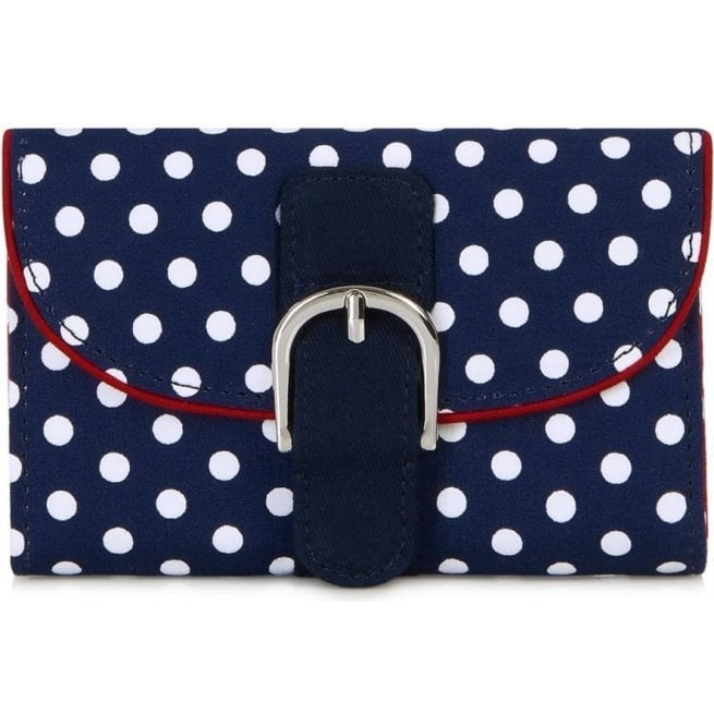 Ruby Shoo Womens Garda Navy Spotted Purse 50085
