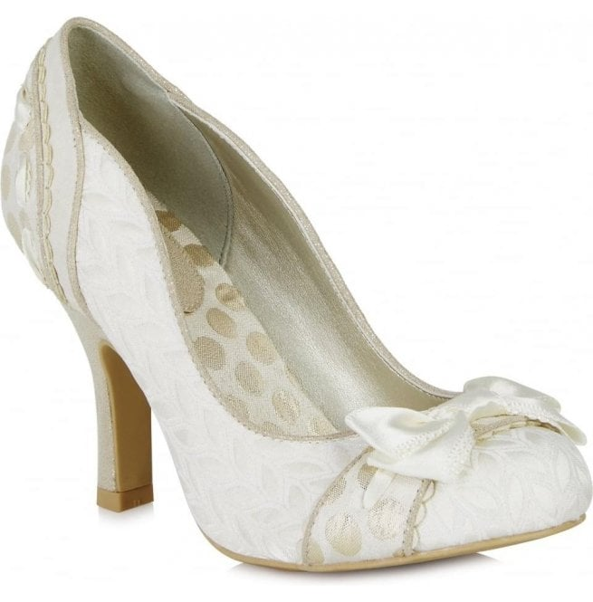 Ruby Shoo Womens Amy Cream Court Shoes 09085