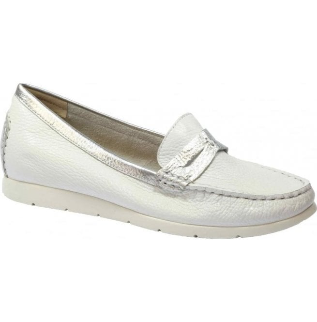 Caprice Womens White Deer Multi Leather Skin Moccasins 9-24651-28 115