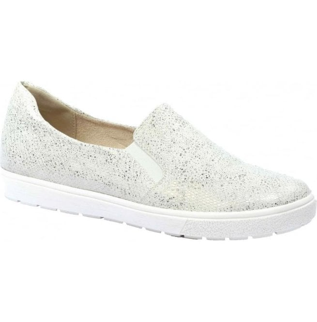 Caprice Womens Manou White Leather Slip On Loafers 9-24662-28 110