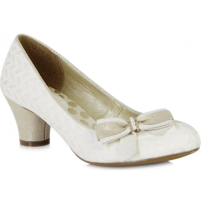 Ruby Shoo Womens Lily Cream Slip On Court Shoes 09090