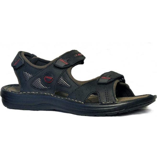 Orca Bay Mens Tahiti Black Leather Casual Sports Sandals