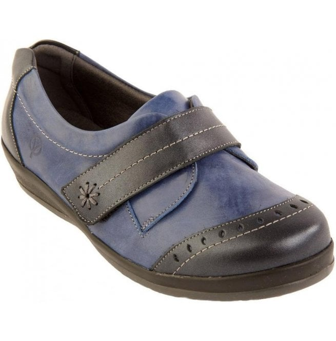 Sandpiper Womens Fenwick Navy/Royal Strap Over Shoes