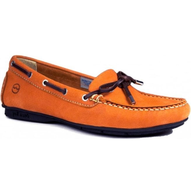 Orca Bay Womens Ballena Orange Leather Deck Shoes