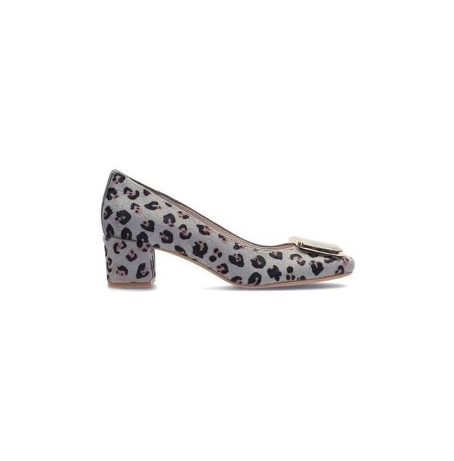 Clarks Womens Chinaberry Fun Leopard Print Court Shoes