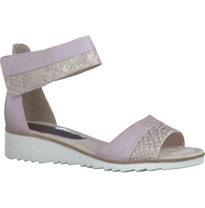 Marco Tozzi Womens Rose Combi Strap Over Closed Heel Sandals 2-2-28604-28 596