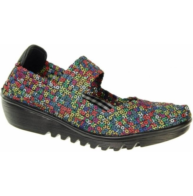 Adesso Womens May Multi Coloured Slip On Mary Jane Shoes A3781
