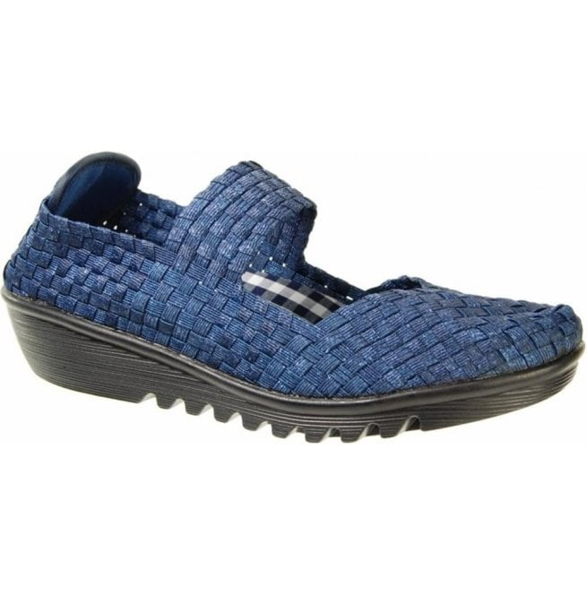 Adesso Womens May Ocean Slip On Mary Jane Shoes A3780