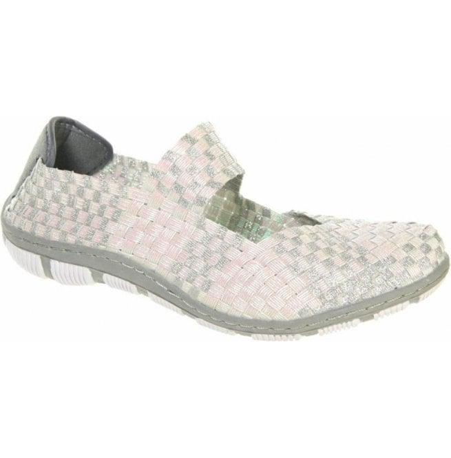 Adesso Womens Lottie Pearl/Silver Mary Jane Shoes A3742