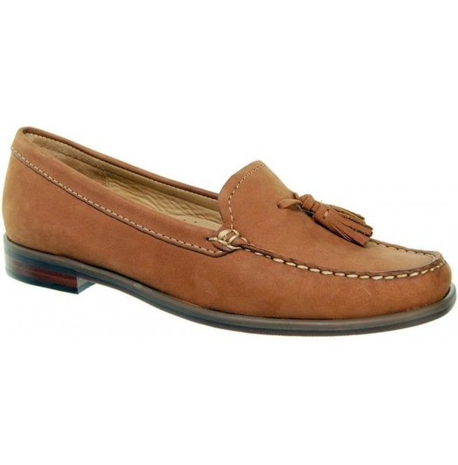 Capollini Womens Janine Tan Suede Moccasin Loafers