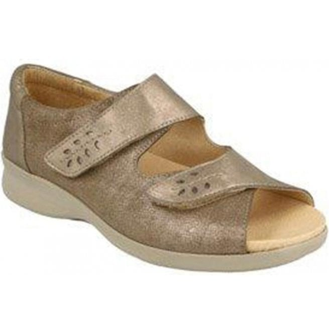 Db Shoes Womens Cinnamon Pewter Leather Extra Wide Shoes