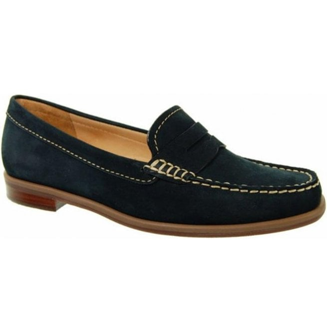 Capollini Womens Bexley Navy Suede Loafers V524