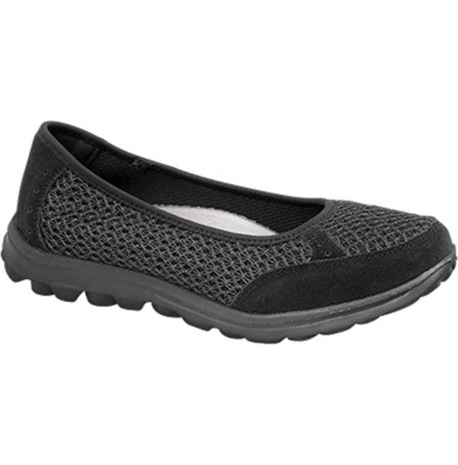 Boulevard Womens Black Slip On Leisure Casual Shoes L9548A