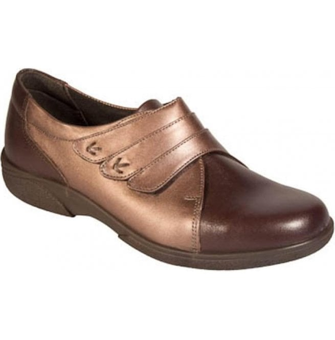 Db Shoes Womens Bakewell Brown/Espresso Wide Fitting Shoes