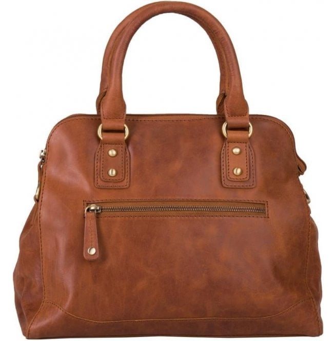 Bolla Bags Womens Haven Brandy Leather Handbag