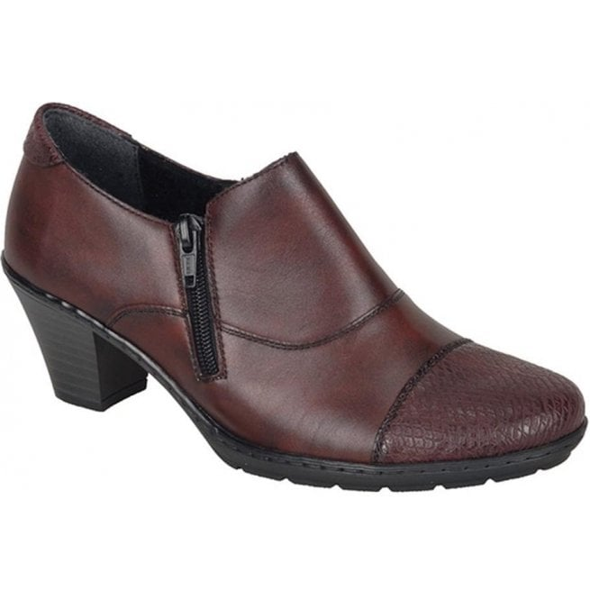 Rieker - Womens Agadez Red Leather Shoe Boots 57173-35