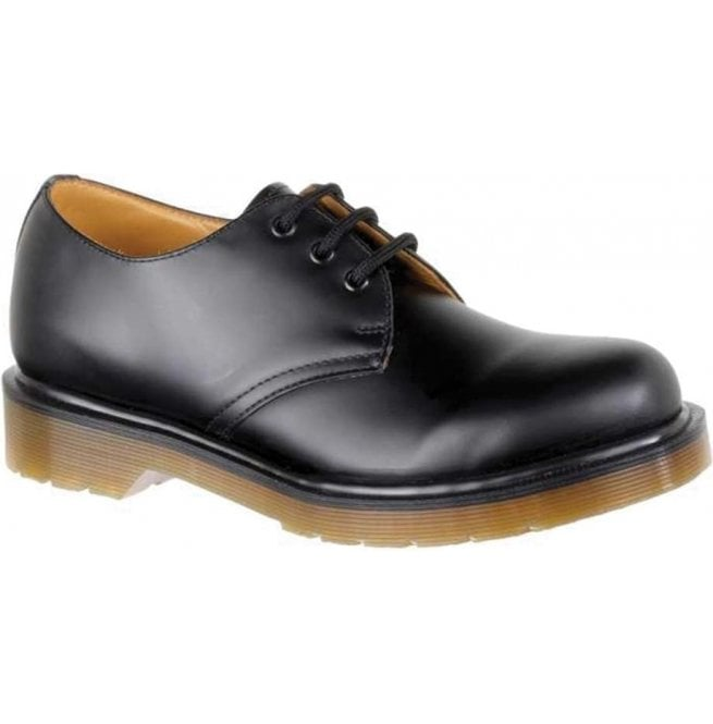 Dr Martens Unisex 1461 PW Smooth Black Leather Shoes 11839002