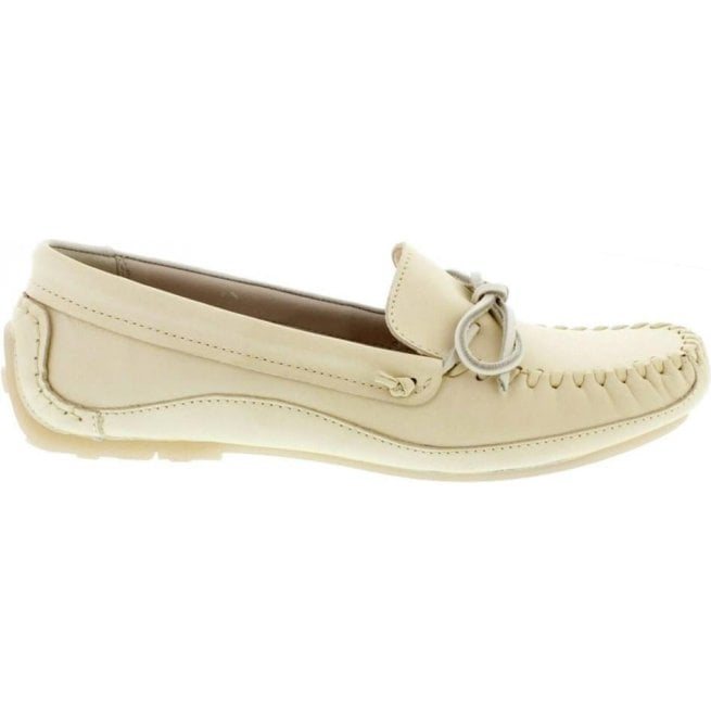 Clarks Womens Natala Rio White Leather Mocassins