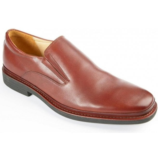 Steptronic Mens Andrea Cognac Formal Slip On Shoes