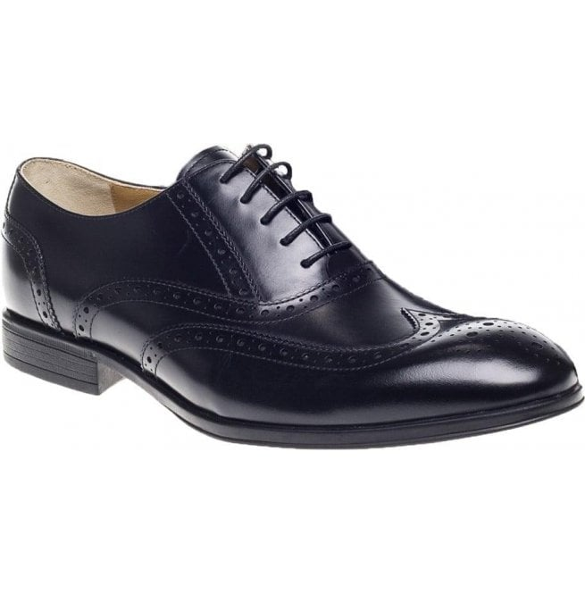 Steptronic Mens Finchley Black Brogue Lace Up Shoes