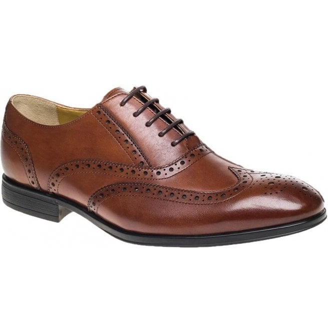 Steptronic Mens Finchley Tan Brogue Lace Up Shoes
