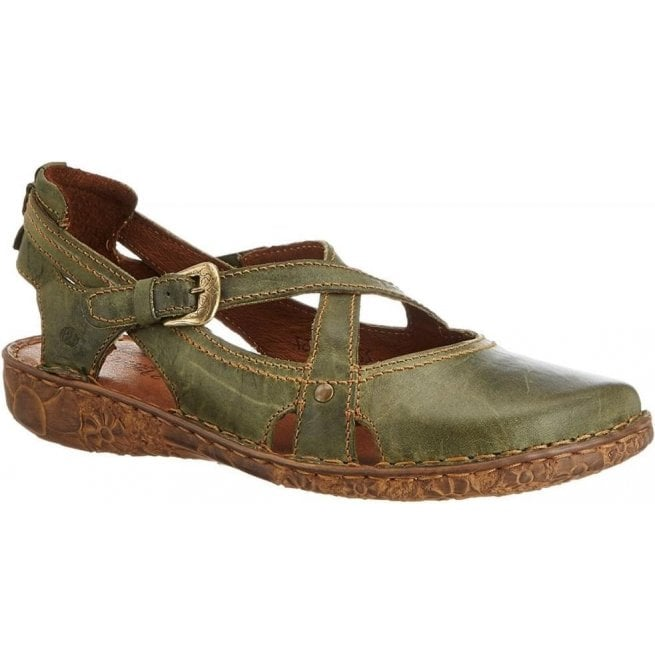 Josef Seibel Womens Rosalie 13 Olive Velcro Shoes 79513 95 630