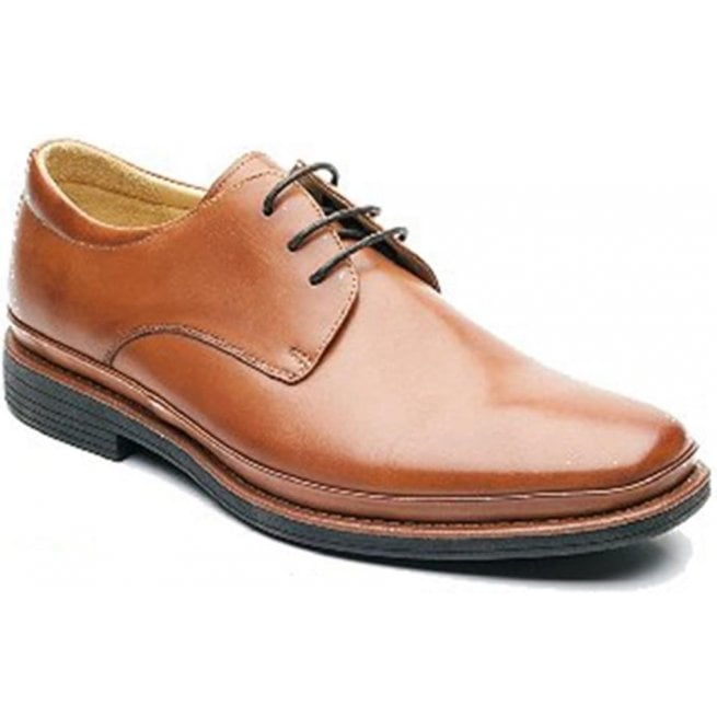 Steptronic Mens Angelo Cognac Formal Lace Up Shoes