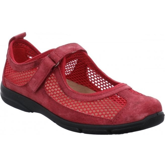 Romika Womens Traveler 02 Red Low Top Shoes