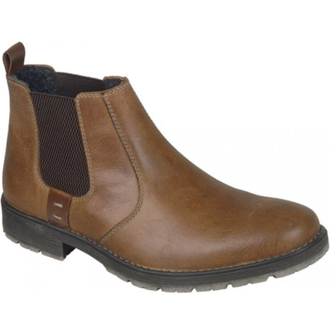 Rieker - Mens Russia Brown Leather Chelsea Boots 33353-25