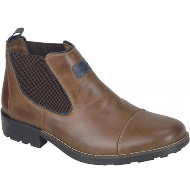 Rieker - Mens Ramon Brown Leather Chelsea Boots 36063-25