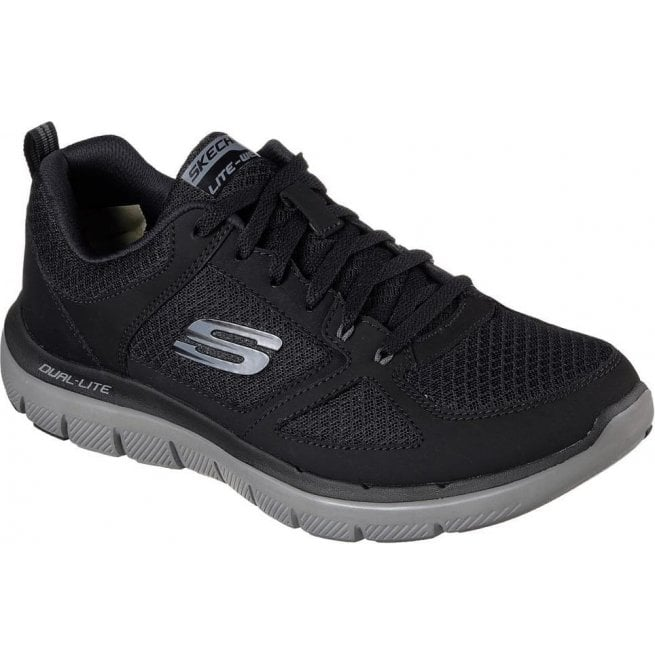 Skechers Mens Flex Advantage 2.0 - Lindman Black/Charcoal Trainers 52189