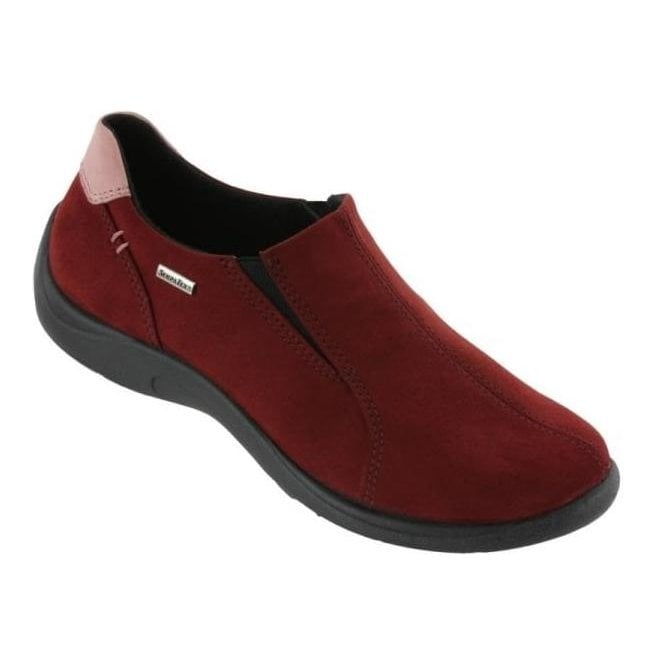 Rohde Womens Burgundy Waterproof Slip On Shoes 2801 42