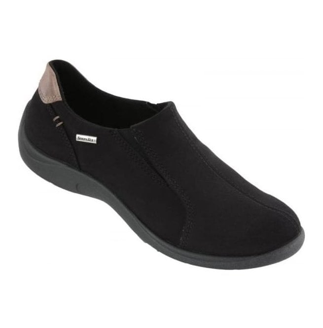 Rohde Womens Black Waterproof Slip On Shoes 2801 90