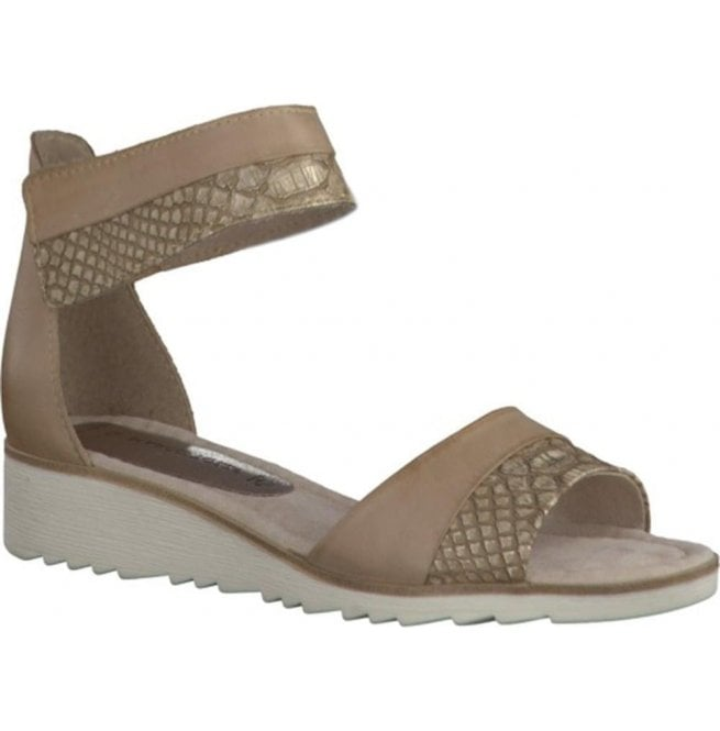 Marco Tozzi Womens Dune Combi Strap Over Closed Heel Sandals 2-2-28604-28 435