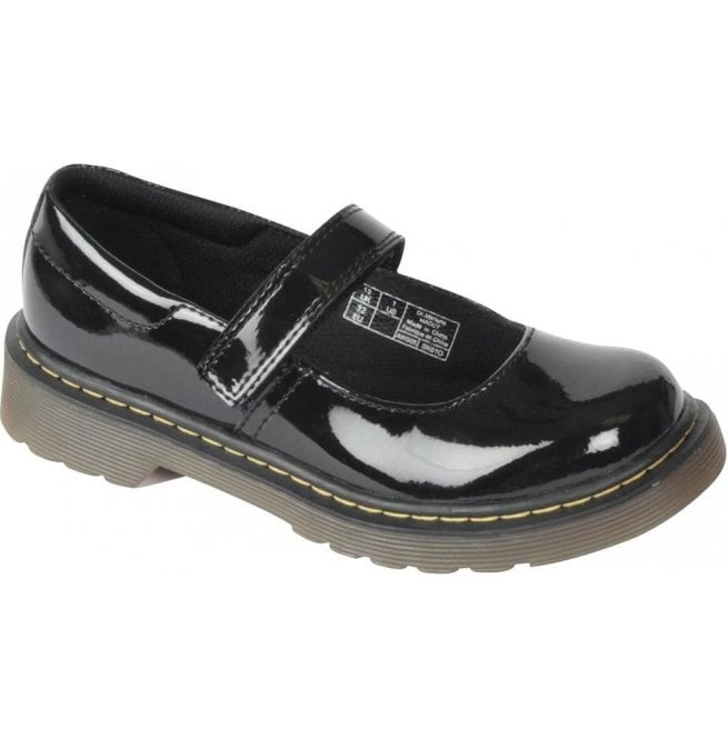 Dr Martens - Kids Core Maccy Black Patent Mary Jane Shoes 15655002