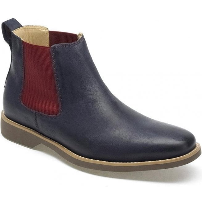 Anatomic Gel Mens Cardoso Vintage Navy Leather Chelsea Boots